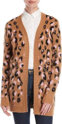 RD Style Cheetah Print Open Cardigan