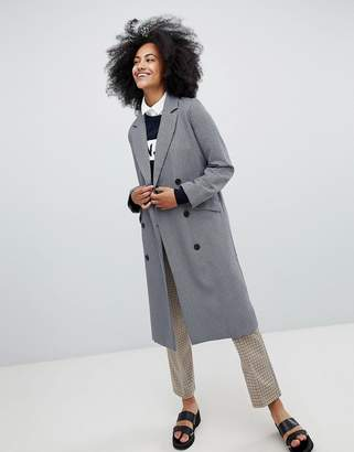 Monki Checked Tailored Coat
