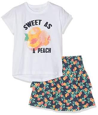 Name It Girl's Nkfvegas Set J Clothing, Multicolour Bright White, (Size: -152)
