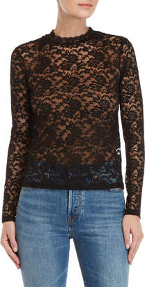 Levi's Black Long Sleeve Lace Top