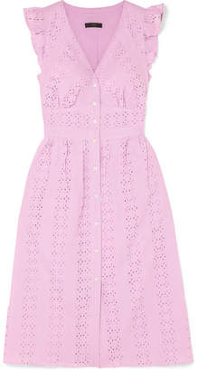 J.Crew Broderie Anglaise Cotton-poplin Dress - Baby pink