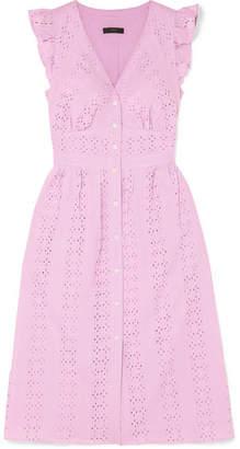 J.Crew Broderie Anglaise Cotton-poplin Dress - Baby pink