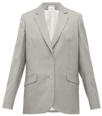 Pallas X Claire Thomson Jonville X Claire Thomson-jonville - Episode Single Breasted Wool Blazer - Womens - Grey