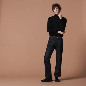 Sandro Straight-cut raw jeans