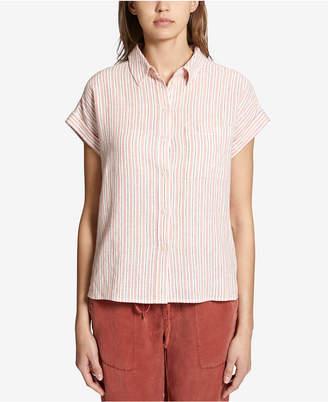 Sanctuary Mod Short-Sleeve Boyfriend Shirt