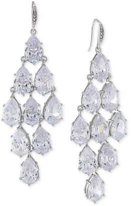 Carolee Silver-Tone Crystal Chandelier Earrings