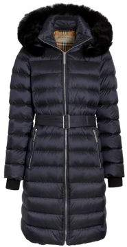Burberry Limehouse Shearling Hooded Puffer Coat