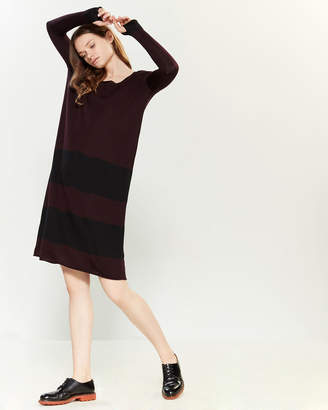 Hannes Roether Stripe Long Sleeve Sweater Dress