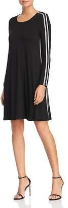 Rob-ert Robert Michaels Long-Sleeve Varsity Stripe Dress