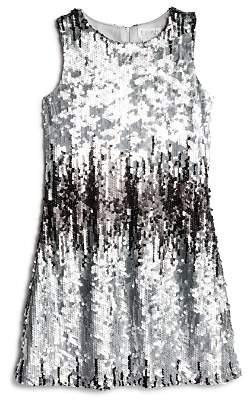 Us Angels Girls' Ombré Sequin Shift Dress - Big Kid