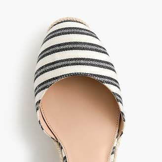J.Crew Espadrille wedges (83mm) with ankle wrap in stripe
