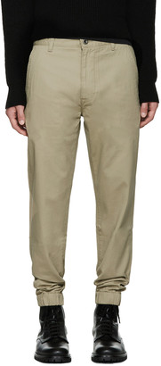Levi's Beige Chino Jogger Trousers $85 thestylecure.com