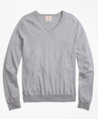 Brooks Brothers Cotton-Cashmere V-Neck Sweater