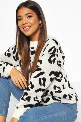 boohoo Leopard Knitted Jumper