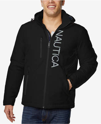 Nautica Men's Logo Graphic Full-Zip Jacket with Removable Hood