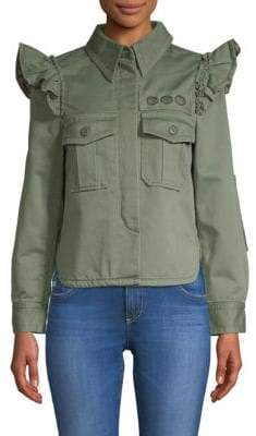 Marc Jacobs Ruffled Military Jacket