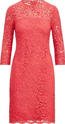 Ralph Lauren Scalloped-Hem Lace Dress
