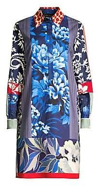 Etro Women's Patch Print Cotton Shirt Dress
