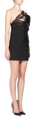 Saint LaurentSaint Laurent Puffed One-Shoulder Dress