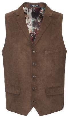 Paisley & Gray Barnsley Faux Suede Slim Fit Vest