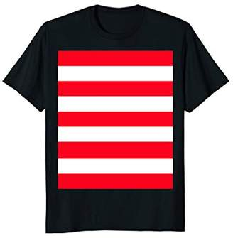 OP ART White Red polish Stripes Block Poland T-Shirt
