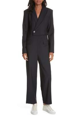 Tibi Plain Weave Blazer Jumpsuit