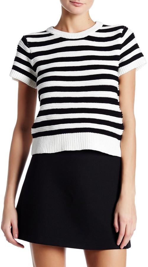 Nicole Miller Crew Neck Short Sleeve Sweater 3