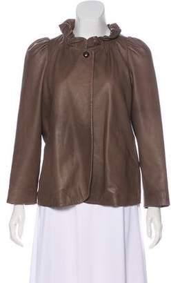 Isabel Marant Ruffle-Accented Leather Jacket