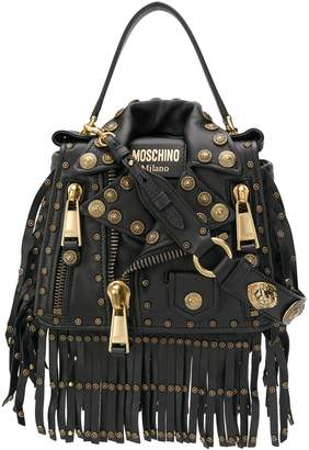 Moschino Trapeze Biker shoulder bag