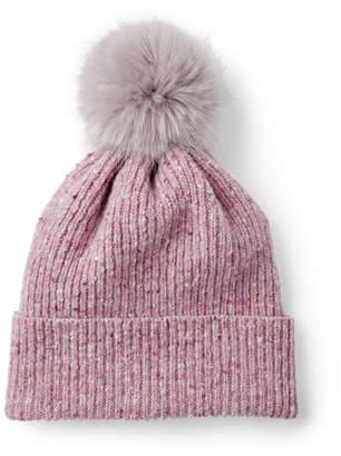 Jigsaw Donegal Faux Fur Pom Hat