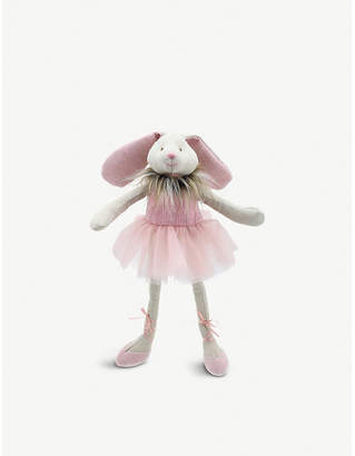 The Puppet Company Faux fur trim ballerina bunny