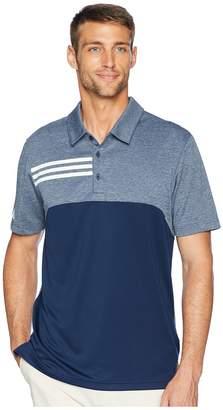 adidas 3-Stripes Heather Block Polo Men's Short Sleeve Pullover
