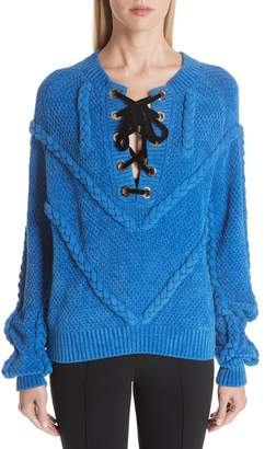 Yigal Azrouel Cable Knit Chenille Sweater