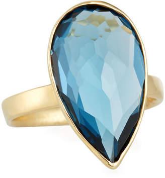 Ippolita 18k Rock Candy® Medium Teardrop Ring in London Blue Topaz, Size 7