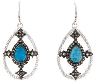 Armenta 18K Quartz, Labradorite Triplet & Diamond Earrings