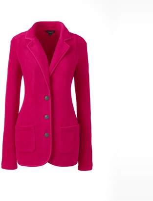 Lands' End Pink Petite Everyday Stretch Fleece Blazer