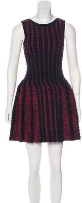 Alaia Fit and Flare Wool Dress