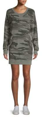 Splendid Camo Courtside Sweater Dress