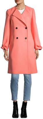 Roberto Cavalli Women's Solid Buttons & Knot Coat