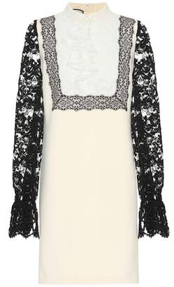 Gucci Lace-trimmed jersey dress