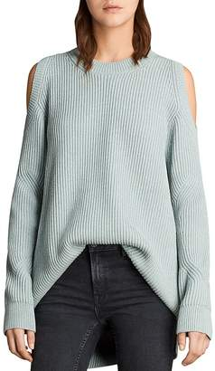 AllSaints Lizzie Cold-Shoulder Sweater