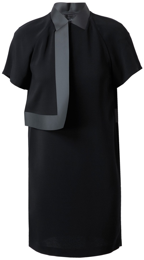 Alexander Wang Crepe and bonded vinyl dress