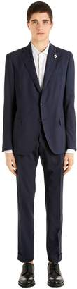 Lardini Water Repellent Stretch Wool Suit
