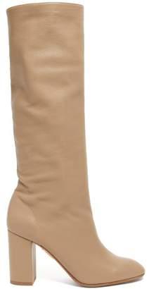 Aquazzura Boogie 85 Knee High Leather Boots - Womens - Grey