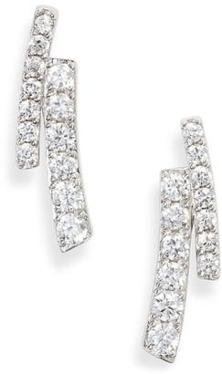 Nadri Ripple Split Line Earrings