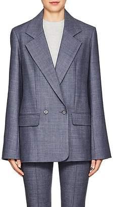 The Row Women's Spreyley Wool-Blend Blazer - Grey Blue Melange
