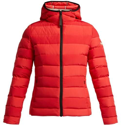 Capranea - Moon Quilted Down Filled Ski Jacket - Womens - Red