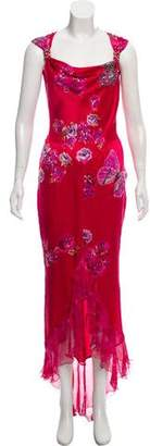 Ungaro Silk Beaded Gown