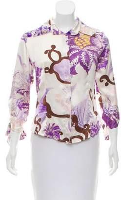 Just Cavalli Printed Silk Top