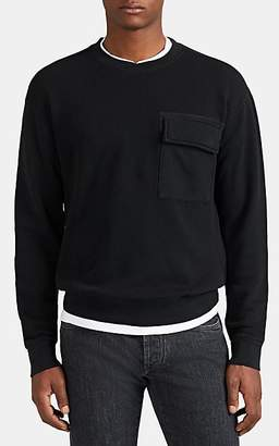 ATM Anthony Thomas Melillo Men's Pocket-Detailed Cotton Oversized Sweatshirt - Charcoal